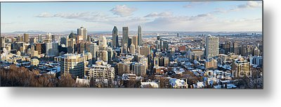 Montreal In Winter Panorama Metal Print by Jane Rix