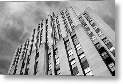 Metal Print featuring the photograph Montreal Skyscraper by Valentino Visentini
