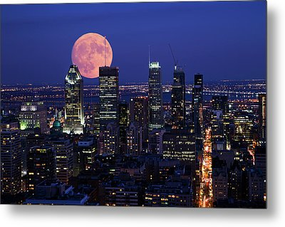 Metal Print featuring the photograph Montreal Supermoon by Mircea Costina Photography
