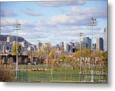 Montreal View From Verdun Metal Print by Reb Frost