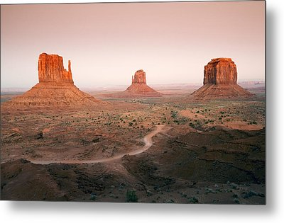 Monument Dusk Metal Print by Mike  Dawson