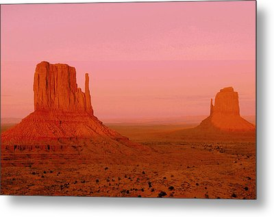 Monument Valley  --  The Mittens  Metal Print