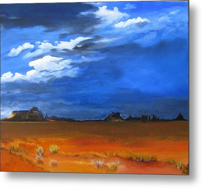Monument Valley Clouds Metal Print