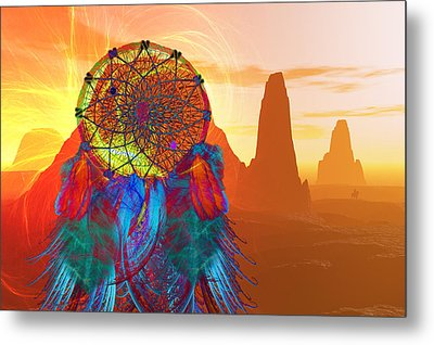 Monument Valley Dream Catcher Metal Print by Carol and Mike Werner