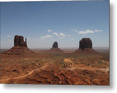 Metal Print featuring the photograph Monument Valley Navajo Park by Christopher Kirby