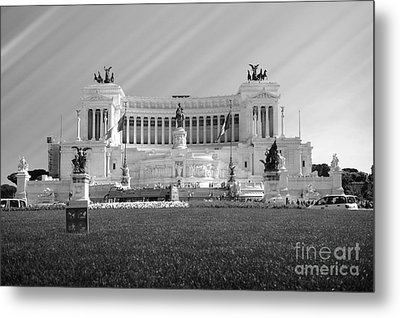 Monumental Architecture In Rome Metal Print by Stefano Senise