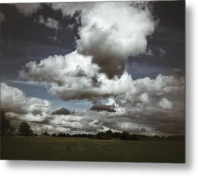 Moodiness In The Clouds Metal Print by Karen Stahlros