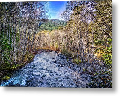Moody Blue River Metal Print by Spencer McDonald