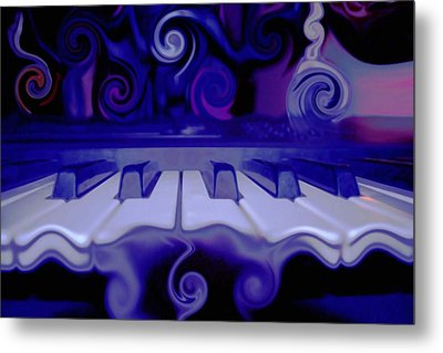 Moody Blues Metal Print by Linda Sannuti