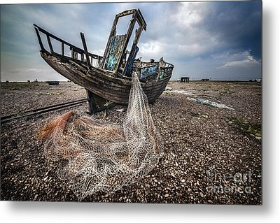 Moody Boat Metal Print by Svetlana Sewell