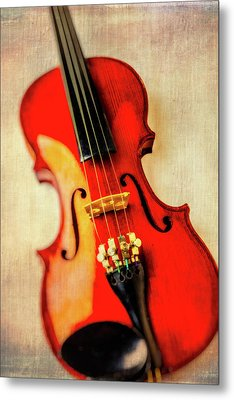Moody Violin Metal Print by Garry Gay