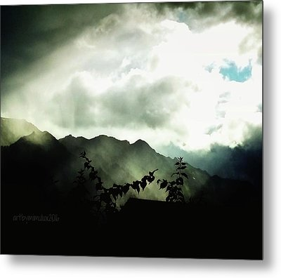 Metal Print featuring the photograph Moody Weather by Mimulux patricia no No