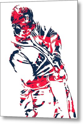 Mookie Betts Boston Red Sox Pixel Art 3 Metal Print