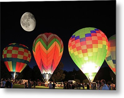 Moon And Balloons Metal Print