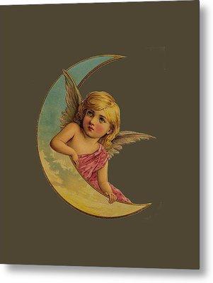 Moon Angel T Shirt Design Metal Print by Bellesouth Studio