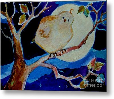 Metal Print featuring the painting Moon Bird by Diane Ursin