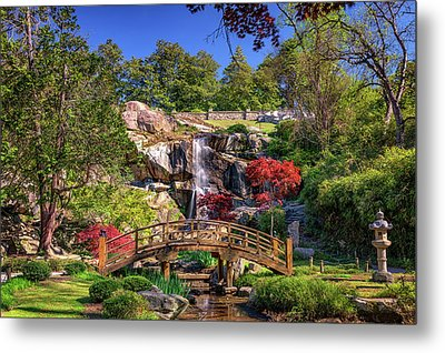 Metal Print featuring the photograph Moon Bridge And Maymont Falls by Rick Berk