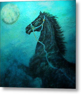 Moon Dance Metal Print by The Art With A Heart By Charlotte Phillips
