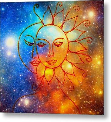 Moon Do You Love Me Asks The Sun... Metal Print