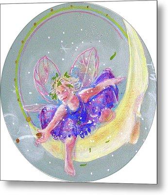 Moon Fairy Metal Print by Gertrude Palmer