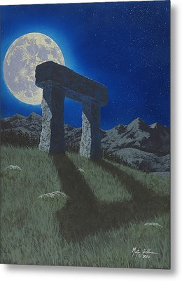 Moon Gate Metal Print by Martin Bellmann