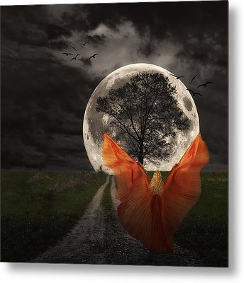 Moon Goddess Metal Print