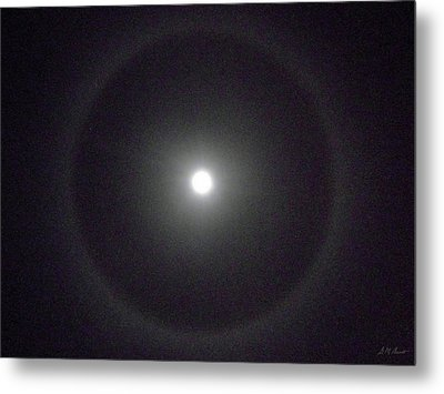 Moon Halo Metal Print by Michael Durst