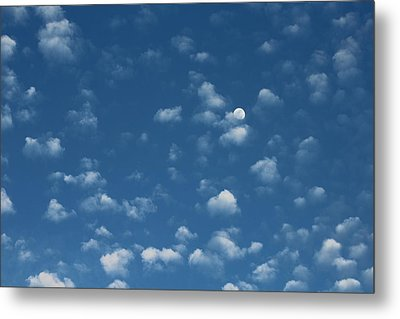 Moon In The Morning Sky Metal Print