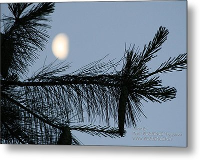 Metal Print featuring the photograph Moon In The Sky 1 by Paul SEQUENCE Ferguson             sequence dot net