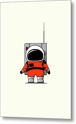 Moon Man Metal Print by Nicholas Ely