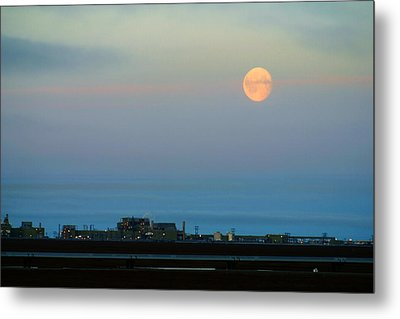 Moon Over Flow Station 1 Metal Print