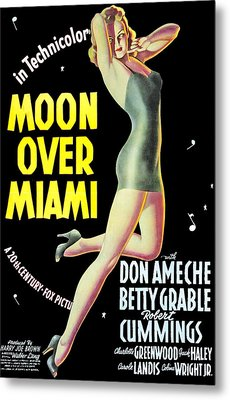 Moon Over Miami, Betty Grable, 1941 Metal Print by Everett