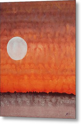 Moon Over Mojave Metal Print
