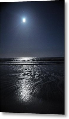 Moon Over Ocracoke Metal Print by Jeff Moose