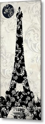 Moon Over Paris Metal Print by Mindy Sommers