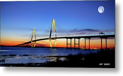 Moon Over Ravenel Metal Print