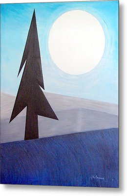 Metal Print featuring the painting Moon Rings by J R Seymour