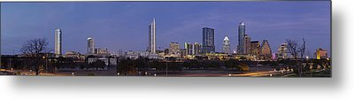 Moon Rise Over Austin Metal Print