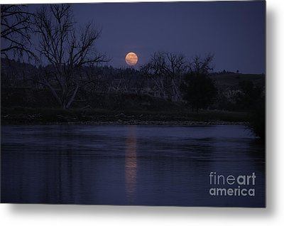 Moon Rise Over The Tongue Metal Print