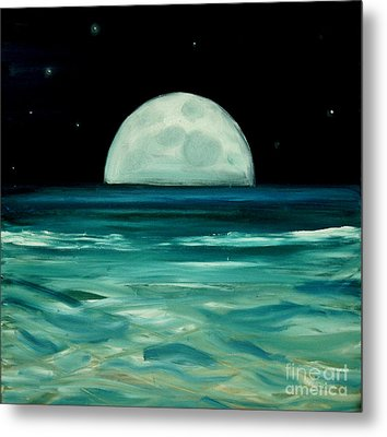 Moon Rising Metal Print by Caroline Peacock