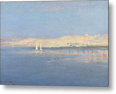 Moon Rising Over The Nile, 1900 Metal Print by William James