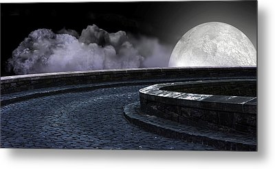 Moon Road 2 Metal Print by Evelyn Patrick