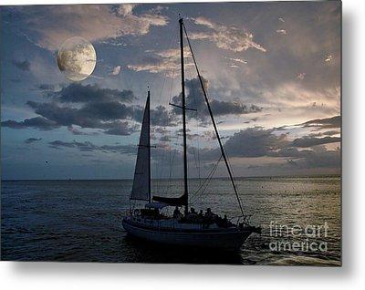 Moon Sail Metal Print by Digartz - Thom Williams