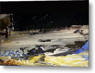 Moon-scape Metal Print by Jacqueline Marks