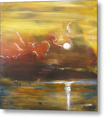Metal Print featuring the painting Moon Shadows by Gary Smith