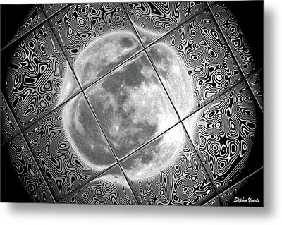 Moon Tile Reflection Metal Print by Stephen Younts