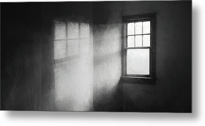 Moonbeams On The Attic Window Metal Print