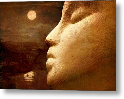 Metal Print featuring the photograph Moonface by Jeff  Gettis