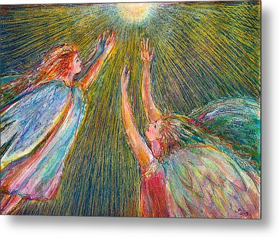Moonlight Angels Metal Print by Laurie Parker