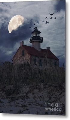 Moonlight At East Point Metal Print